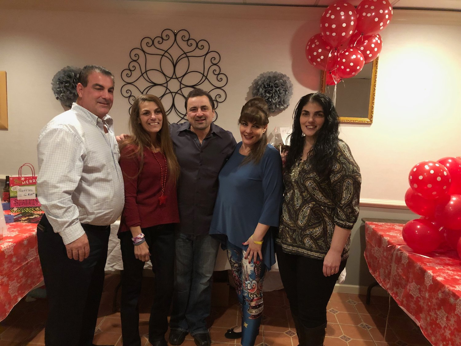 Domenick Stanco, left, Donna Stanco, Angelo Stanco, Mary Stanco and Angelina Stone-Stanco are a very close-knit family.