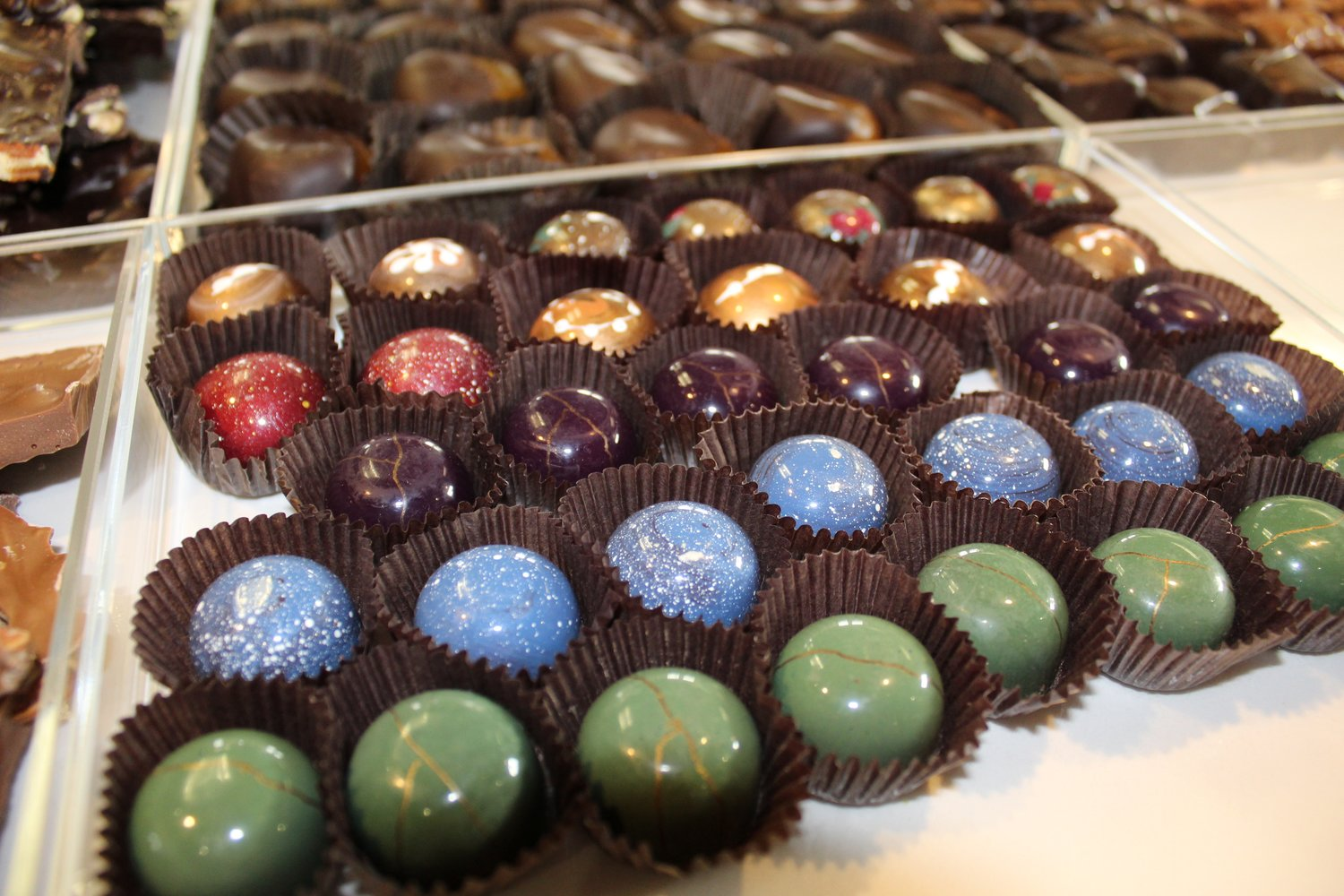 Chocolatier Kristi Wilson's hand-painted truffles are crafted from West African cocoa beans.