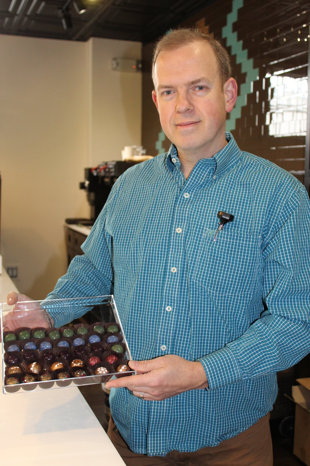 Kenniff's favorite product is Wilson's hand-painted truffles.