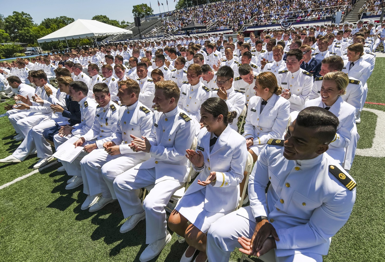 Andrew and Anthony Suarez of East Meadow were recently sworn in as Midshipmen in the US Naval Reserve at the United States Merchant Marine Academy at Kings Point.