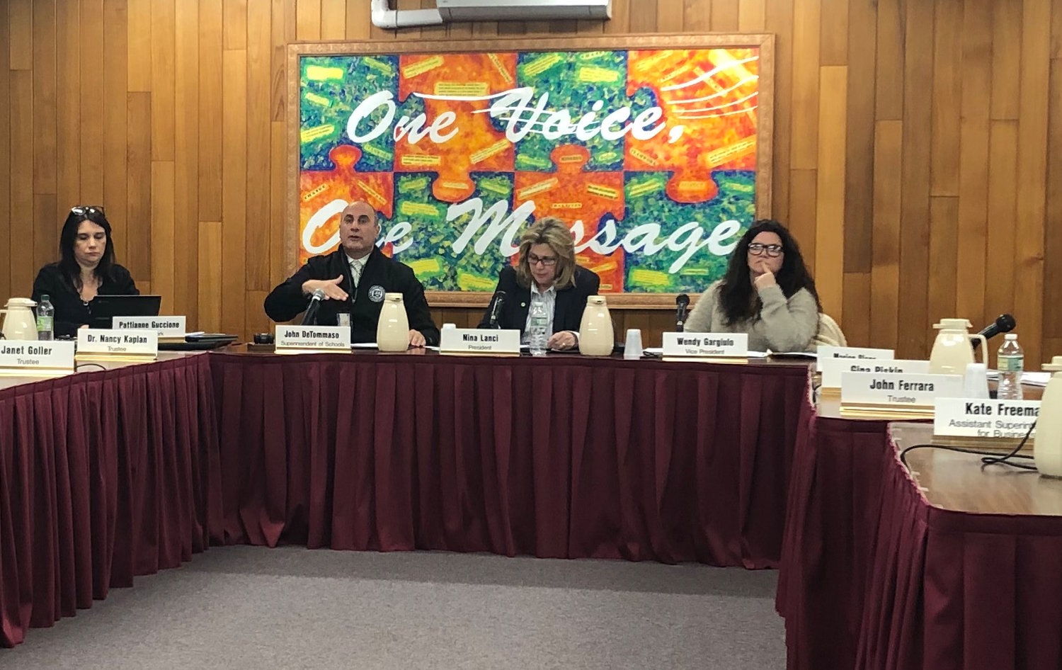 Superintendent John DeTommaso expressed his excitement about a new contract with South Oaks Hospital for the district's wellness centers at the Jan. 2 Board of Education meeting.