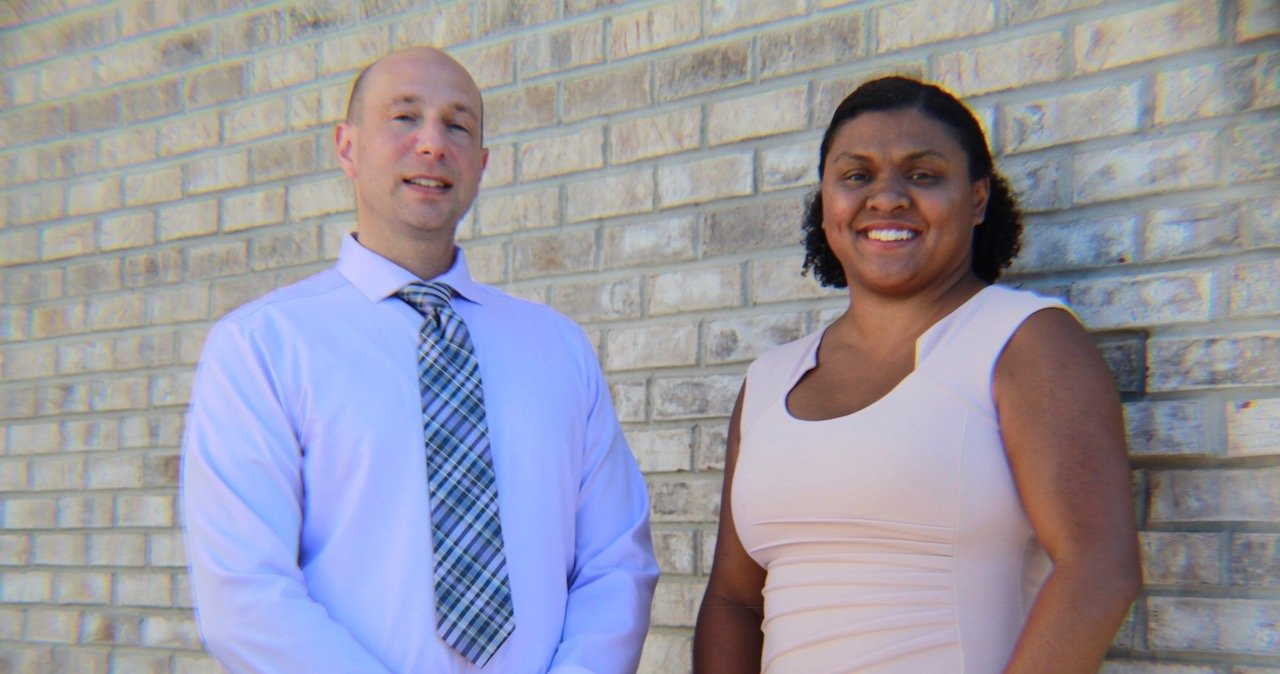 South Civic Association president, Joseph Gambino, left, and vice president, Jennifer Winters, right, announced on Oct. 19 wthey are running for village trustee.