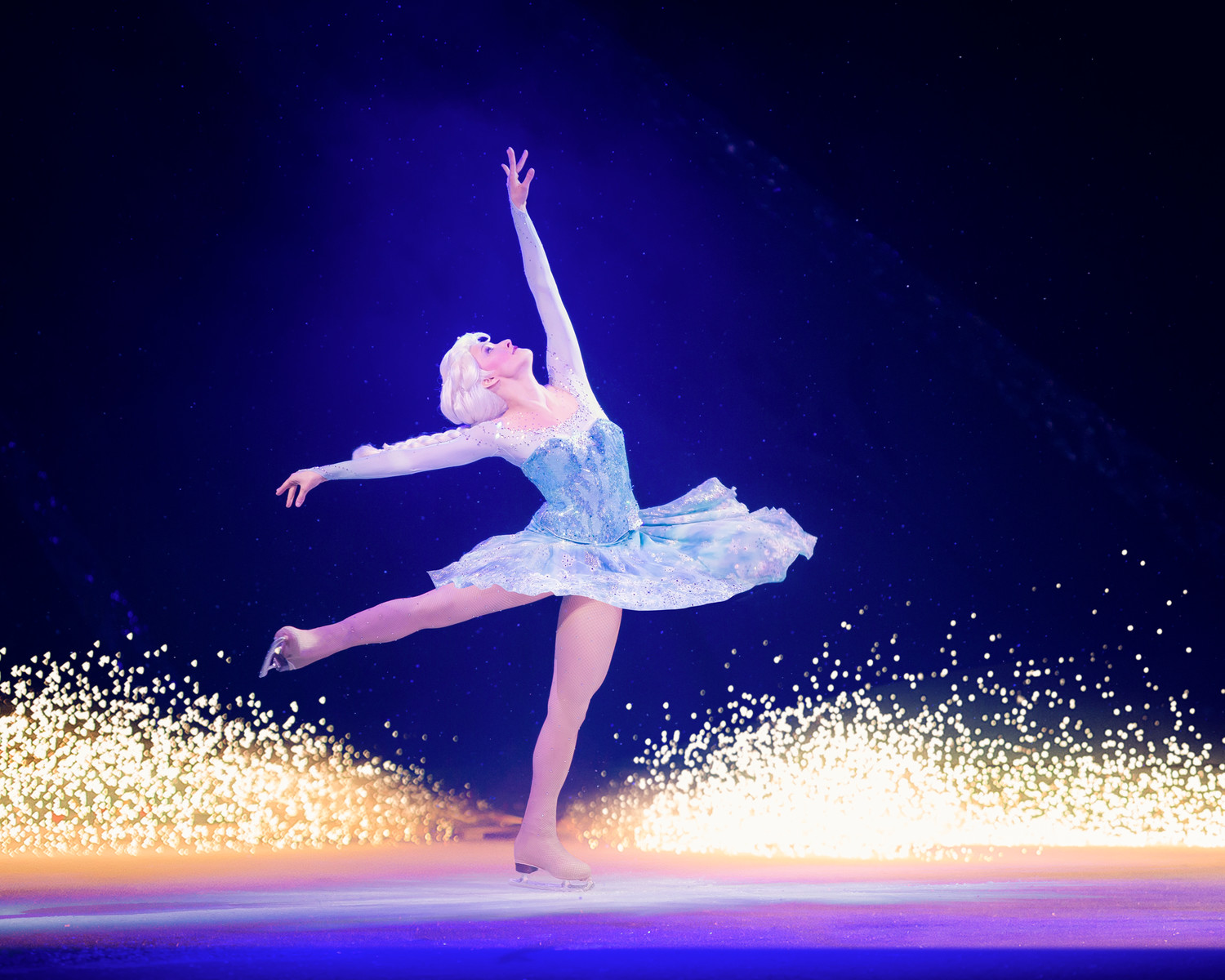 The spotlight shines on Elsa in one of the production's memorable moments.