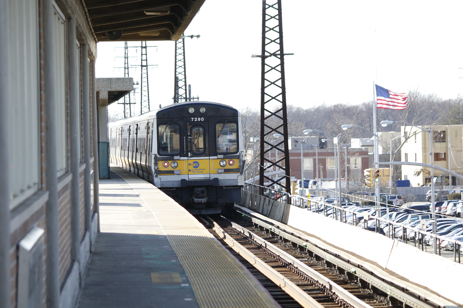 A man was struck and killed by a train in Rockville Centre on Friday.