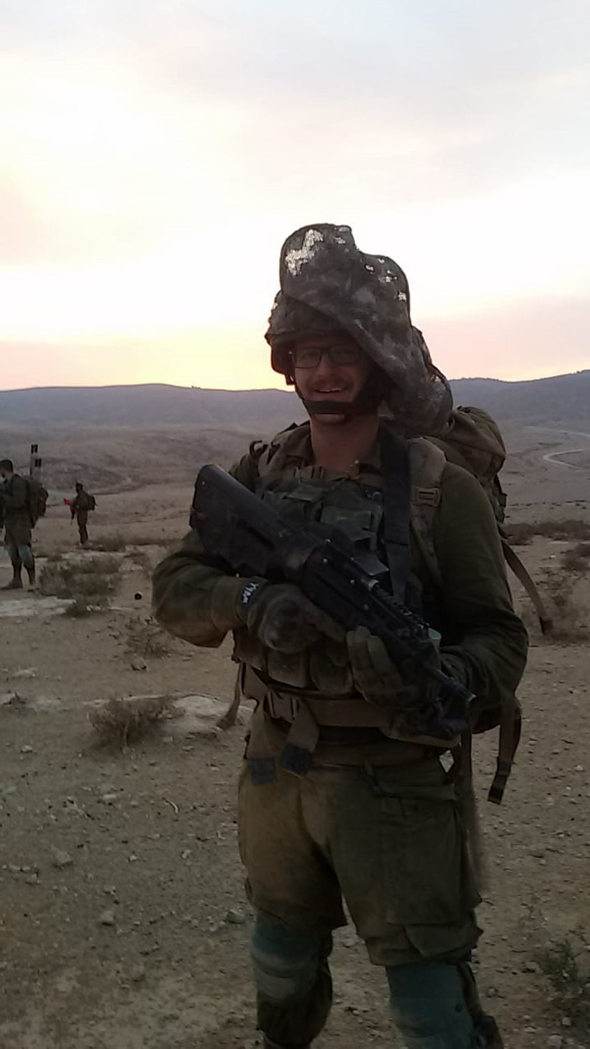 He currently serves as an infantryman in the 932nd battalion of the IDF's Nahal Brigade.