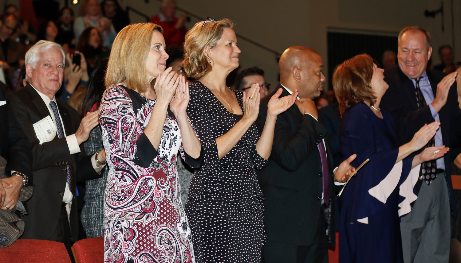 Hempstead Town Supervisor Laura Gillen and Nassau County Executive Laura Curran were among those who attended.