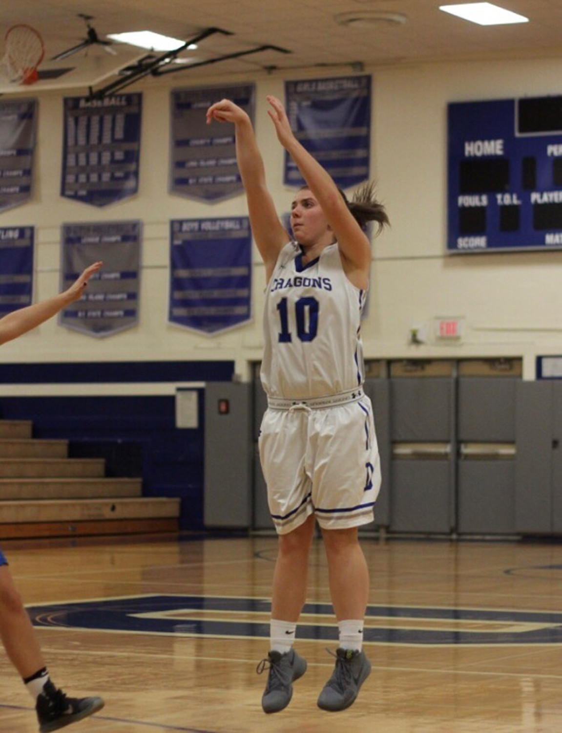 Gillis is only the second player in the school's history — both girls — to surpass the 1,000-point mark.