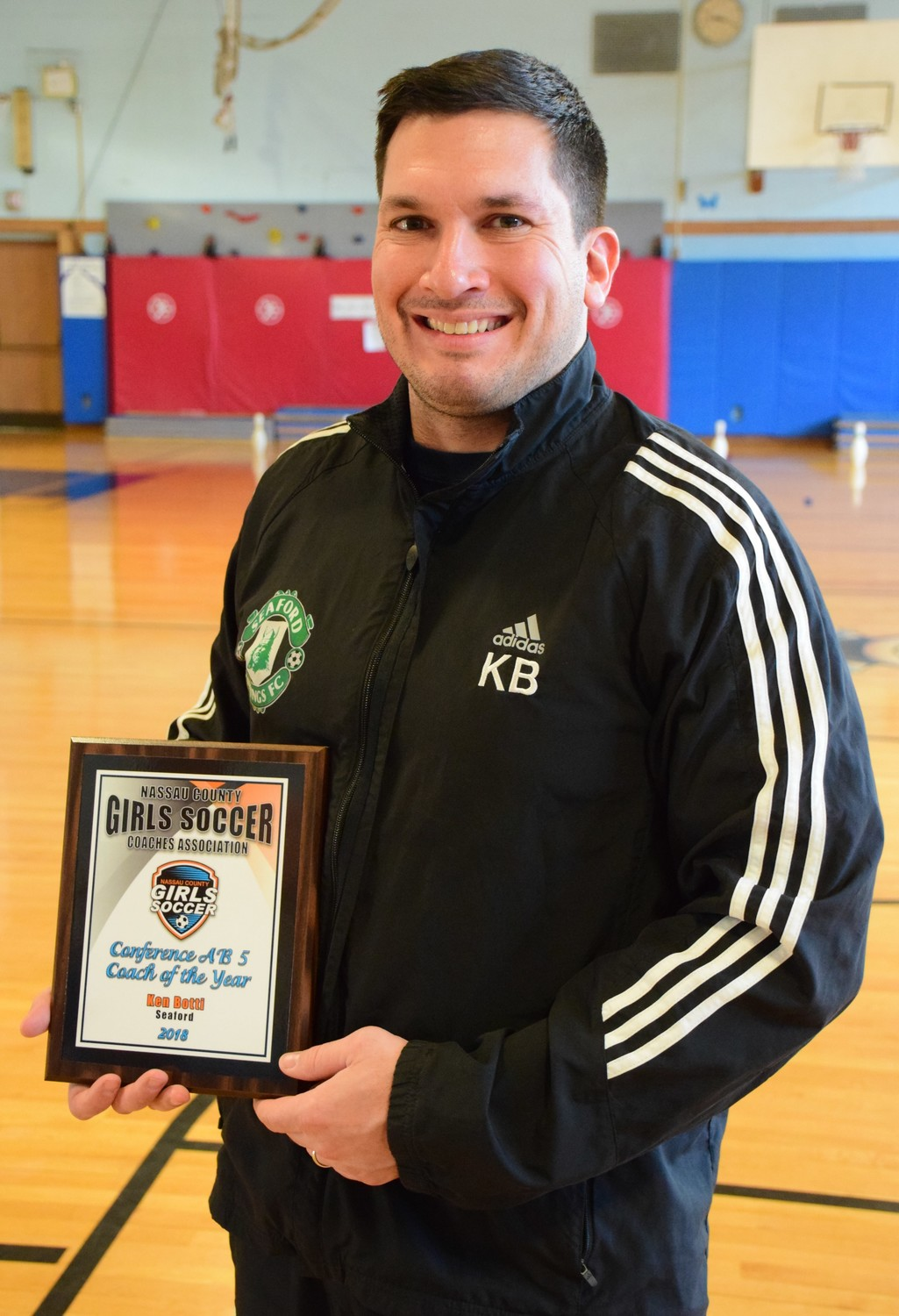 Seaford's Ken Botti was named Coach of the Year by his AB5 conference peers.