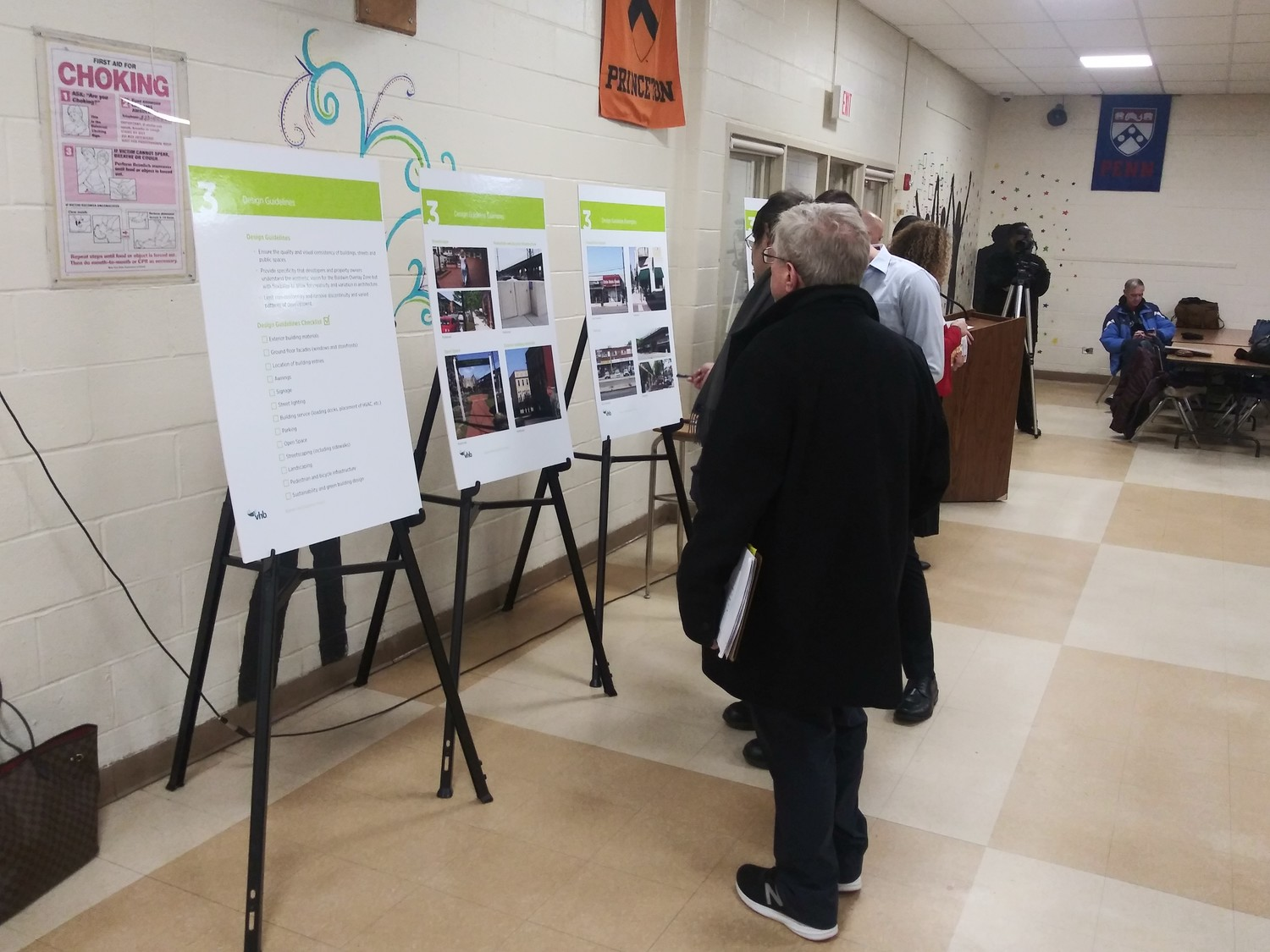 On Jan. 10, the Town of Hempstead unveiled parts of its plan to revitalize Baldwin, giving residents the opportunity to review the plan on poster boards set up in Baldwin Middle School.