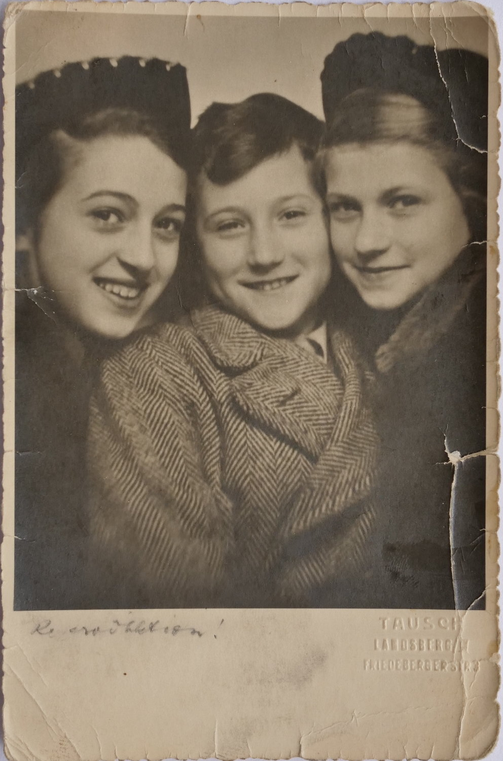 From left, Cele, Herb and Margaret Gildin were split up and sent to live with non-Jewish families in Sweden from Germany in 1939.