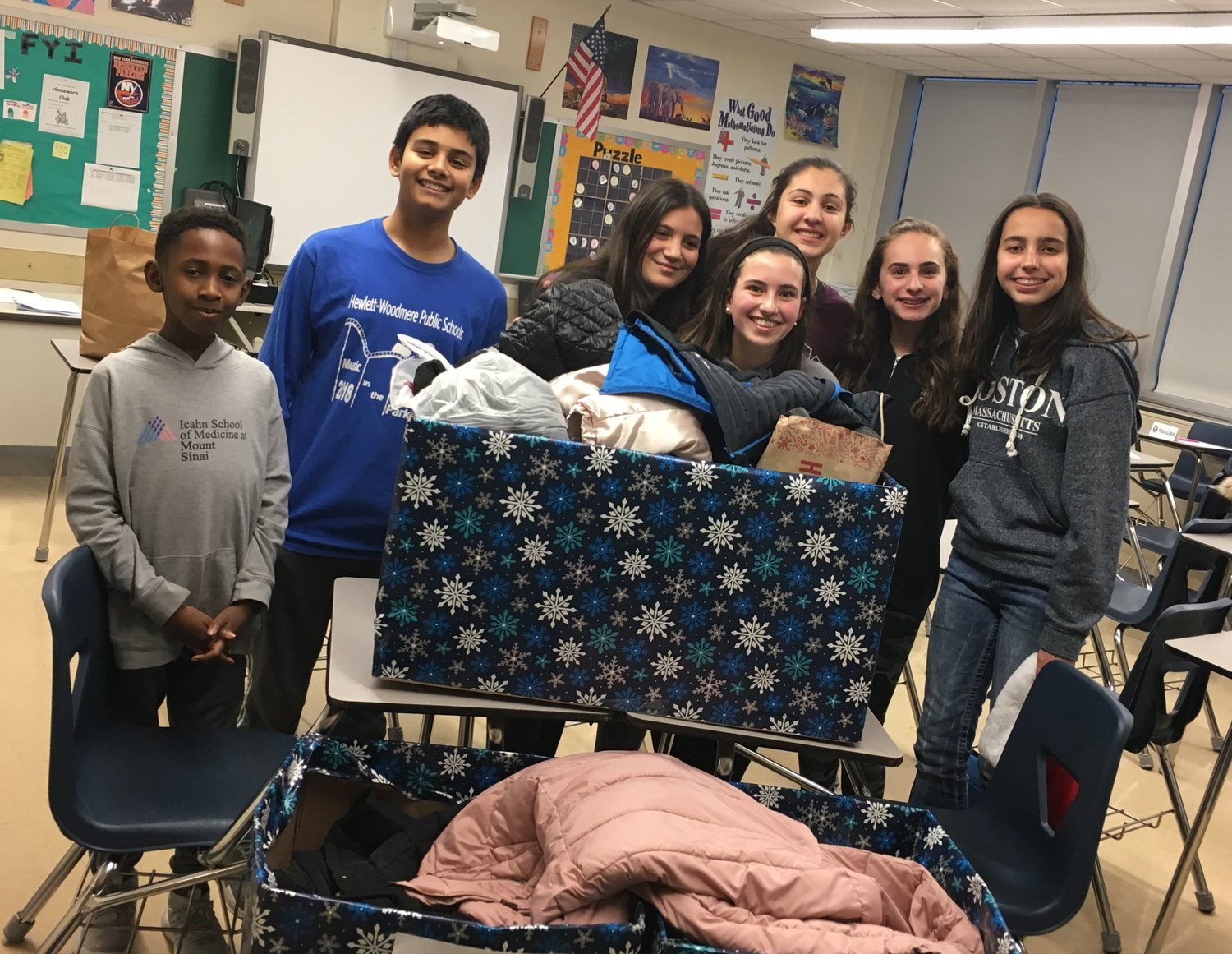 The Kiwanis Builders Club is developing a successful track record of community service. From left Julian Valme, Ibrahim Rasheed, Isabella Diglio, Skylar Kampton, Anastasia Inglima, Leah Bragin and Elani Rocha.