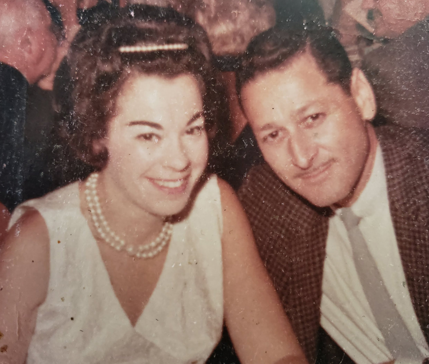 Blanche, left, and David Goodman when they first met in 1956.