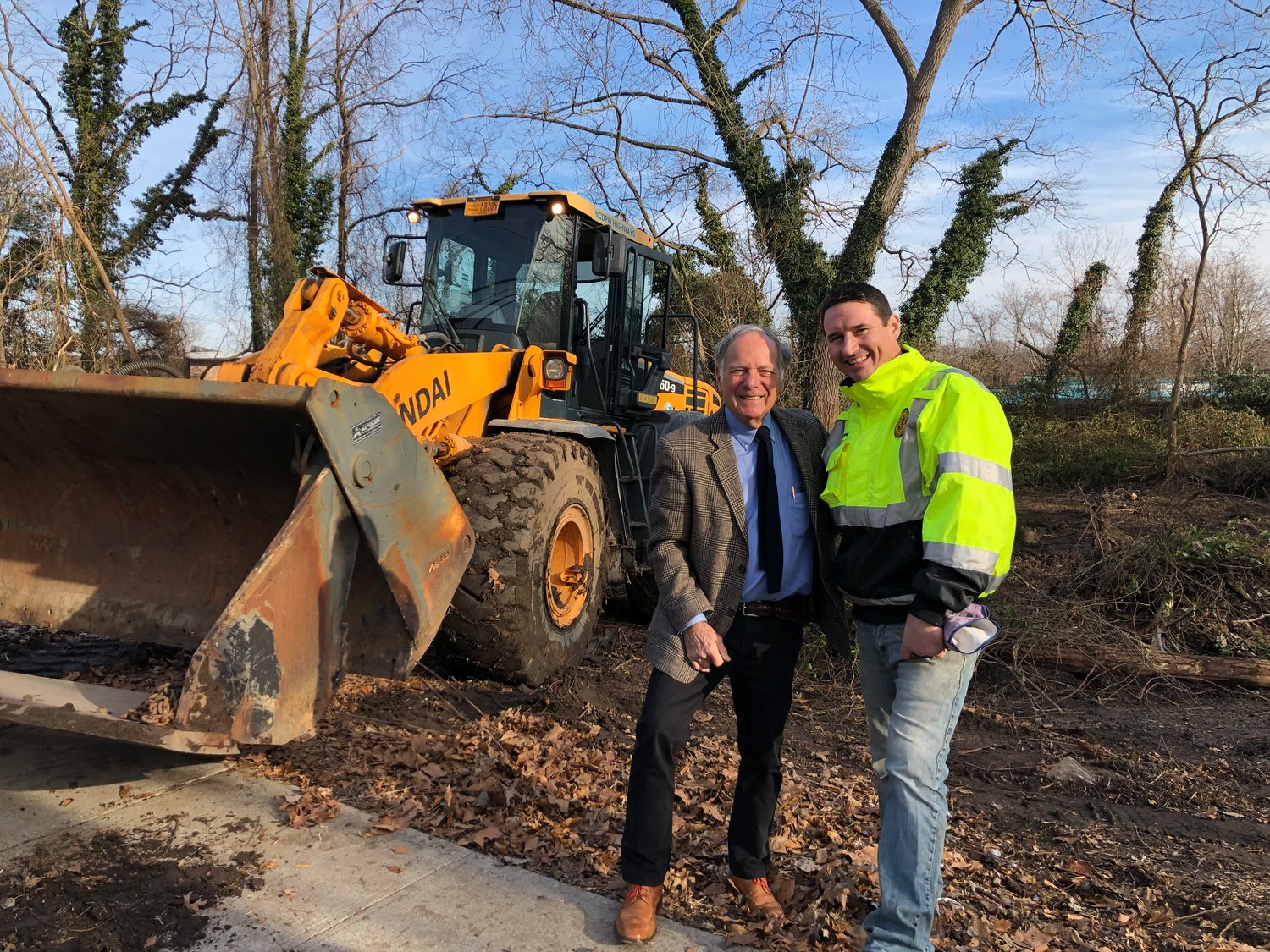 Mayor Robert De Natale met with Anthony Canno, the supervisor for the county's Department of Public Work's, to prepare for an overhaul of the drainage system on Bayville Road at the Tides Motel.