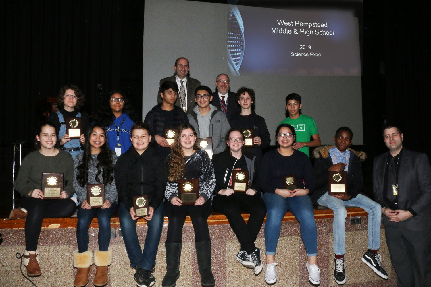 West Hempstead Middle school and high school students were presented with awards during this year's Science Expo on Jan. 10.