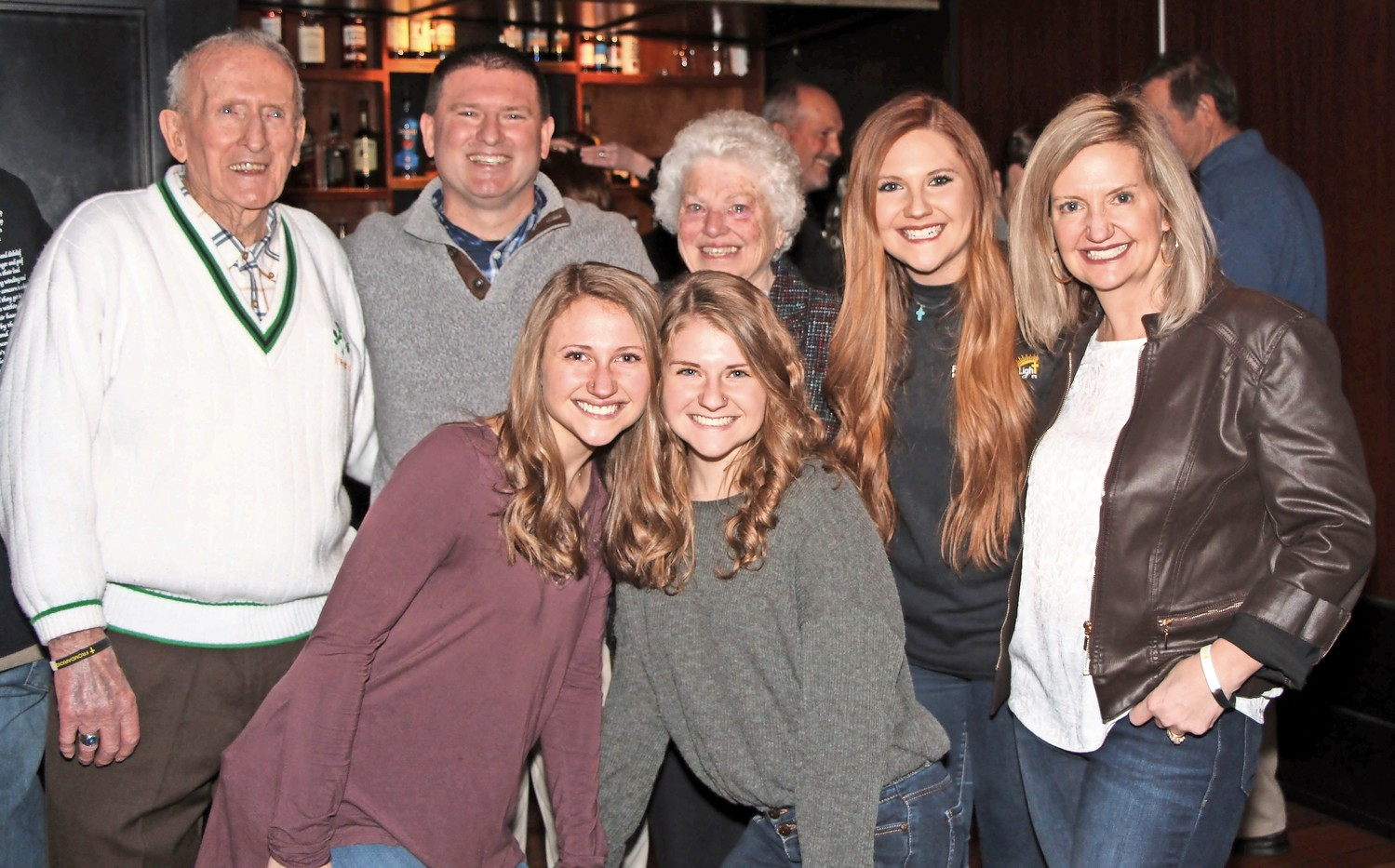 Sean O'Brien, second from the left, was joined by his father Bernie, mother Marilyn, wife Heather and daughters Kailyn, Meghan and Holly.