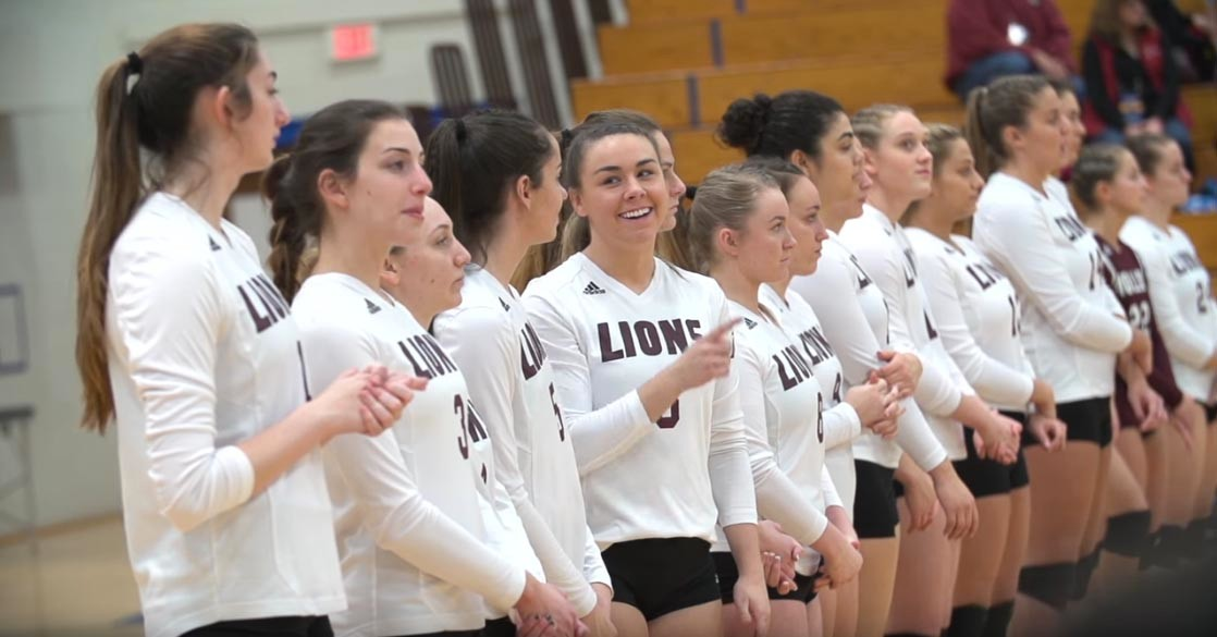 A Molloy College student's seven-minute film on the college's women's volleyball team has been nominated for a College Television Award.