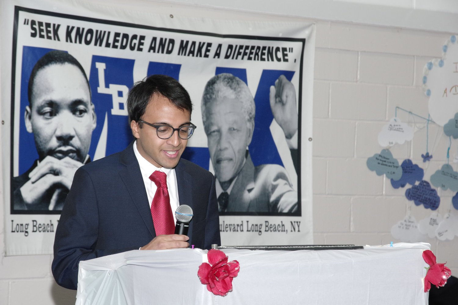 Keynote speaker Nikhil Goyal said King's ideals of tolerance and freedom are more relevant today.