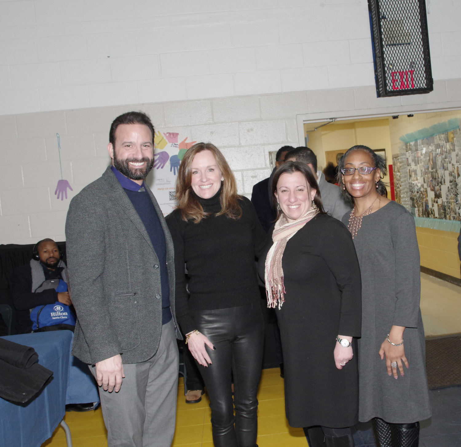 City Council President Anthony Eramo, left, with U.S. Congresswoman Kathleen Rice, City Council Vice President Chumi Diamond and City Councilwoman Anissa Moore.