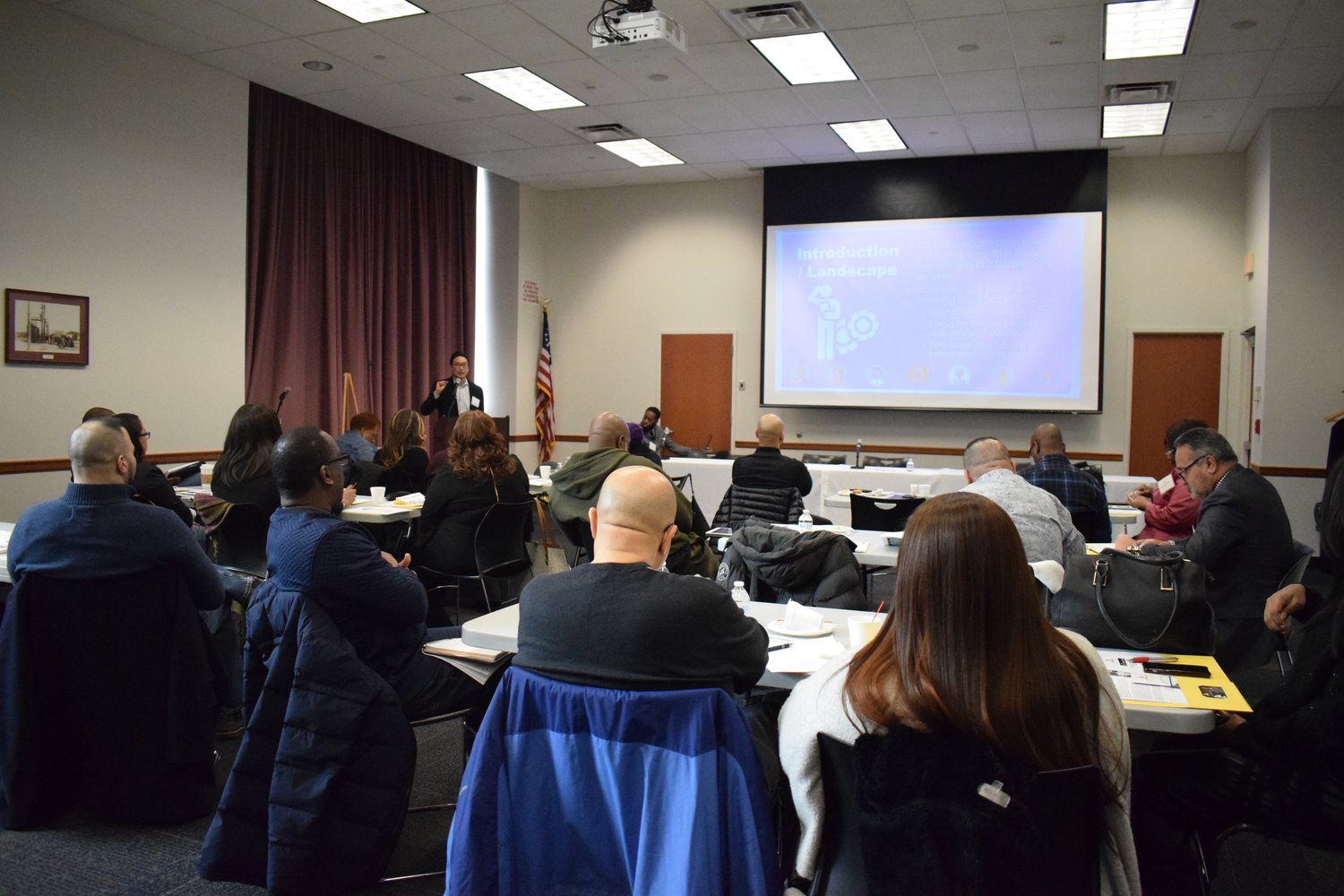 "More than two dozen residents and community leaders discussed how to groom millennials to become local leaders during the ""Roundtable on Reaching, Engaging and Retaining Millennials"" at Elmont Memorial Library on Jan. 19."
