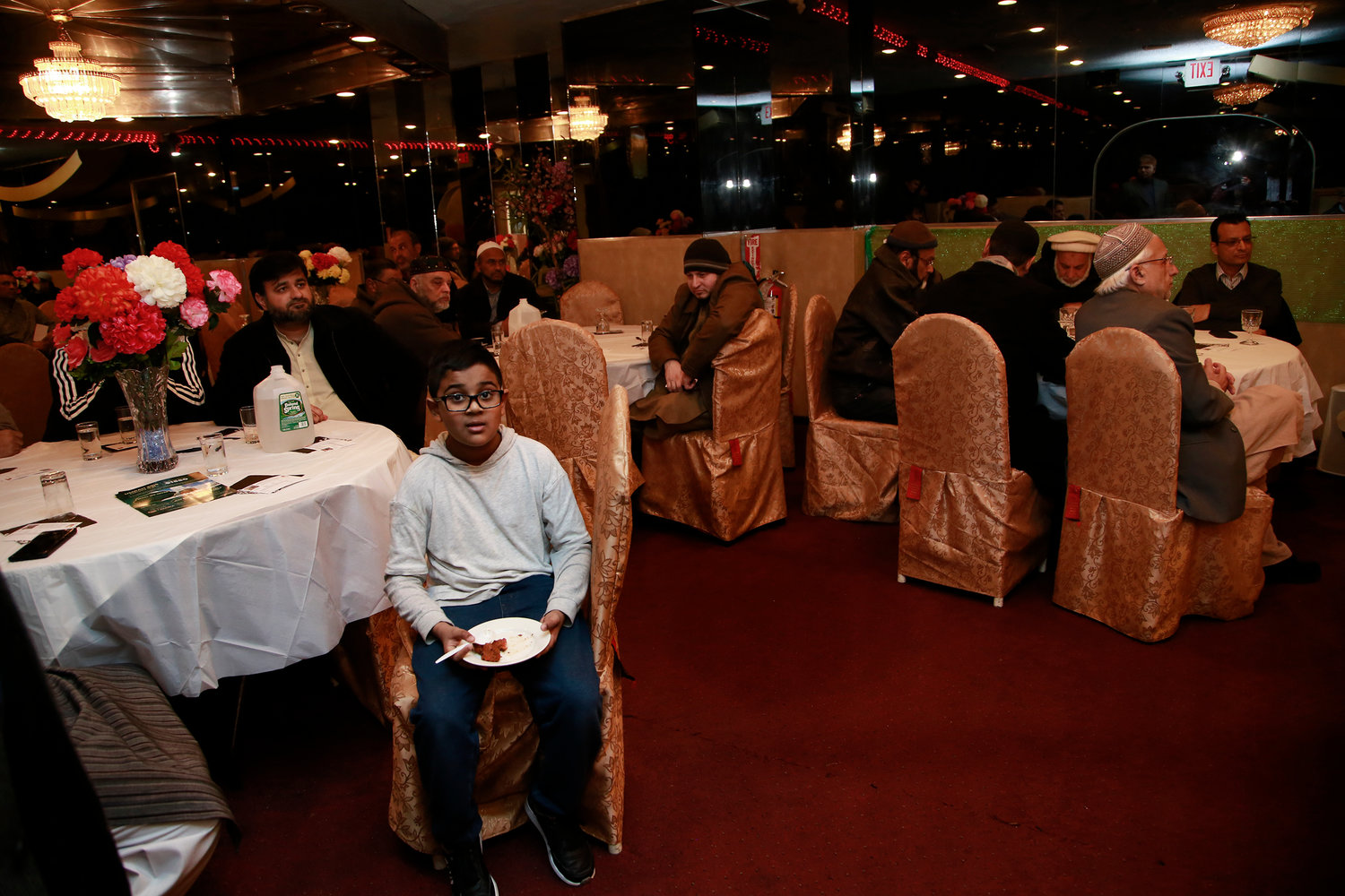 Dozens of local Muslims gathered at the Kabab King Mehal, in West Hempstead, for a fundraiser dinner to build a mosque on Hempstead Turnpike.