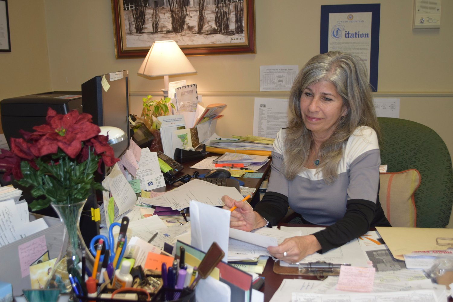 Lee Gerardi considers one of the many decisions she needs to make as CALE executive director.