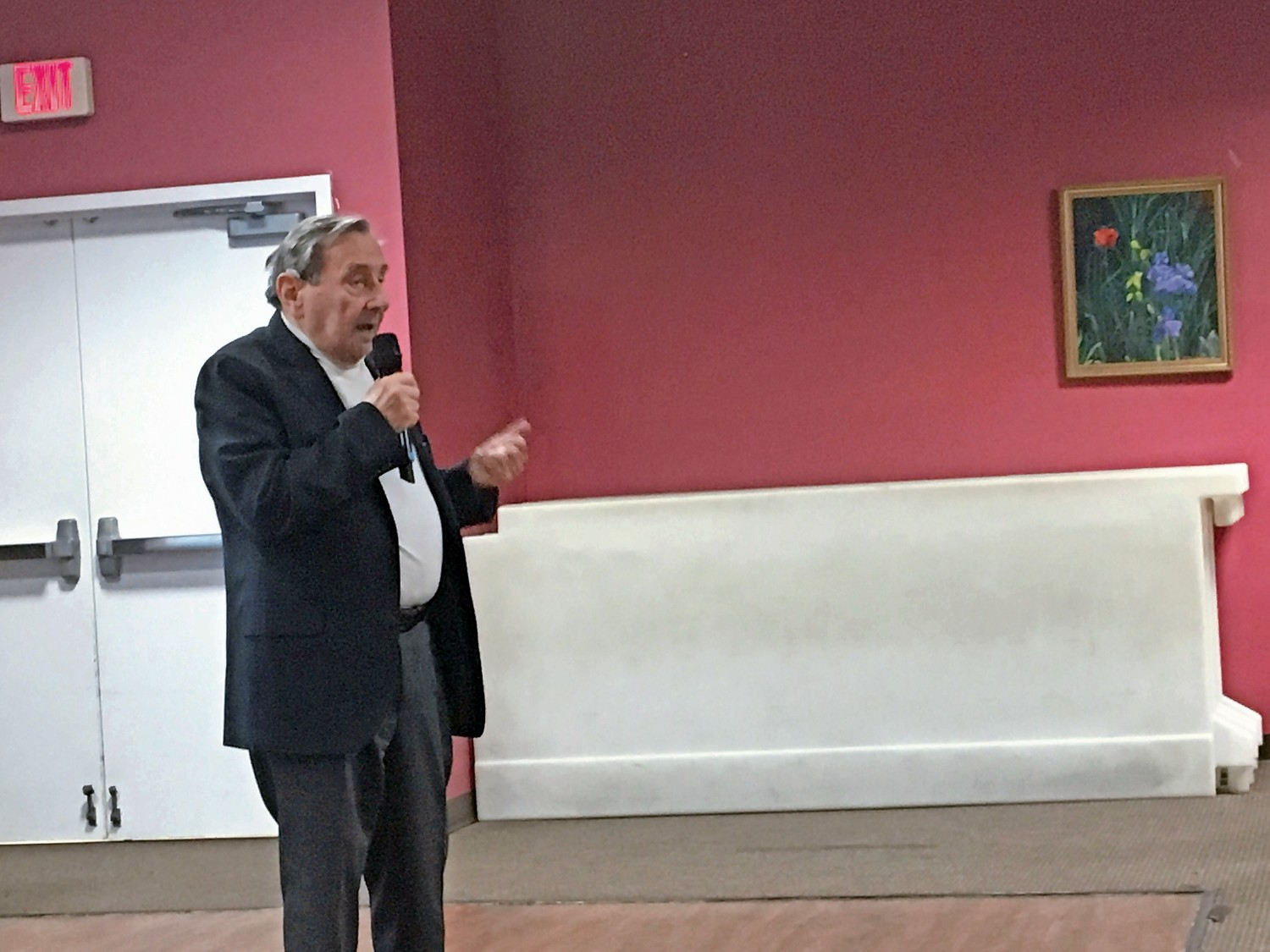 Werner Reich, a 91-year-old Holocaust survivor, shared his story with dozens of residents at the Friedberg Jewish Community Center on Jan. 24.