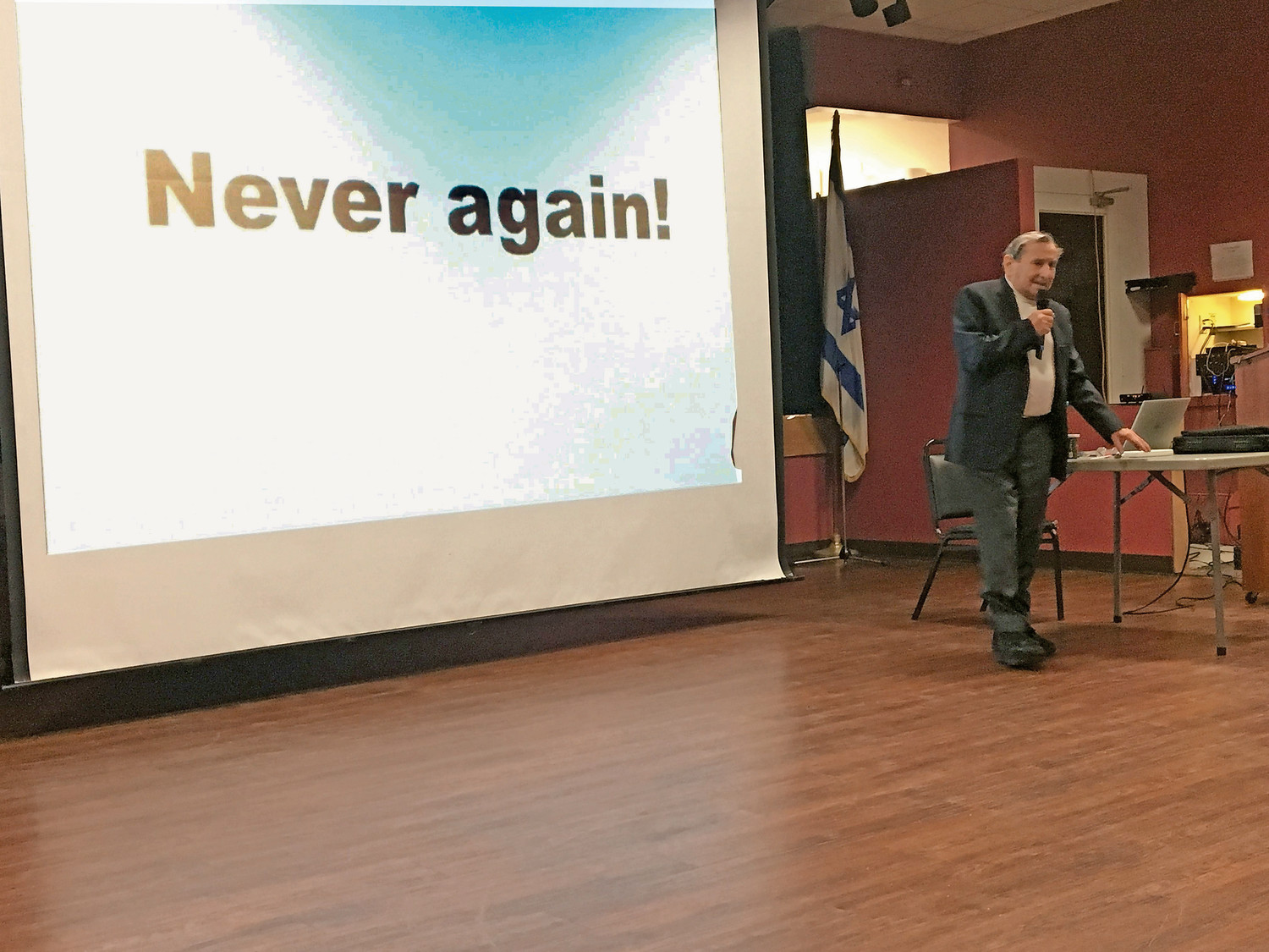"Reich encouraged attendees to ""never forget"" the truth of what happened during the Holocaust."