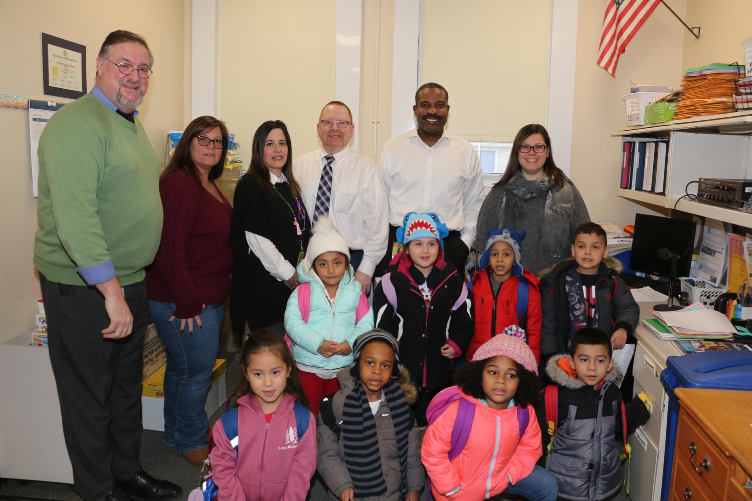 West Hempstead district officials and Chestnut Street School students celebrated the building's 106th anniversary on Jan. 14.