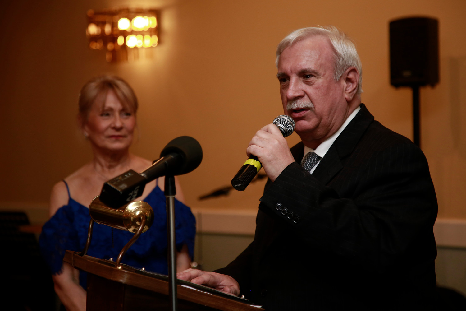 Joe Neve was honored for serving as the Lynbrook Police Department chief for 27 years.