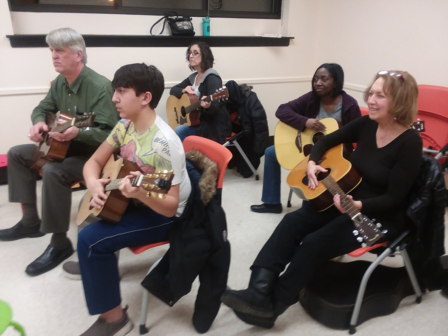The Guitar Project classes also include lessons for adults that start at 7 on Monday nights.