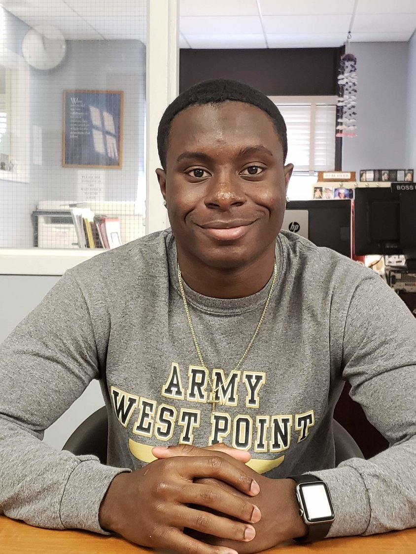 Justin Lescouflair, 17, to attend U.S. Military Academy West Point.