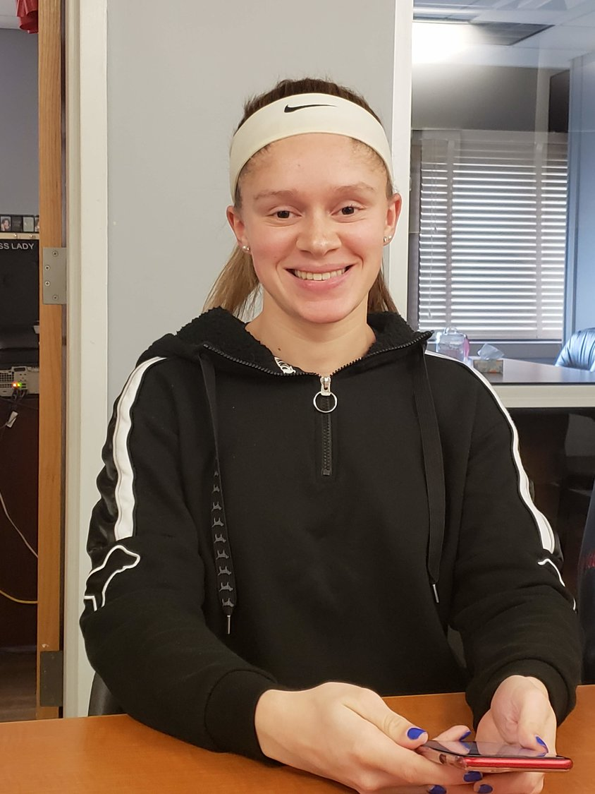 Hayley Matthews, 17, got a full scholarship and will play as a forward on the Dominican College soccer team.