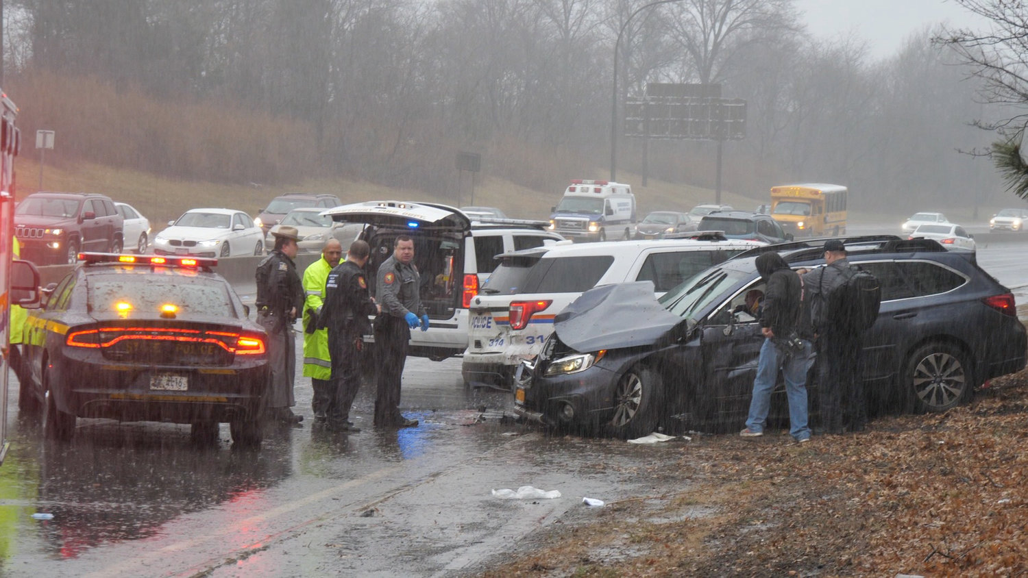 State Police ask in a news release that any witnesses to this collision contact the New York State Police headquarters.