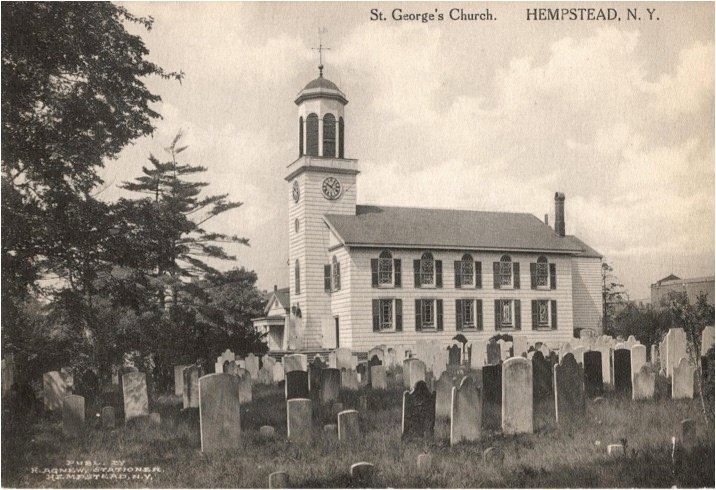 St. George's Episcopal Church, built in 1822, is in the same location where it stands today.