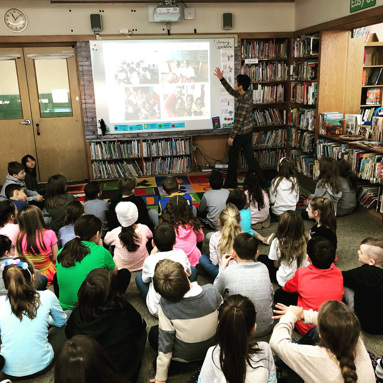 Donna Rosenblum visited Seaford Manor Elementary School on Jan. 11 to introduce the Kenyan Jambo Jipya School and Children's Home to third-graders.