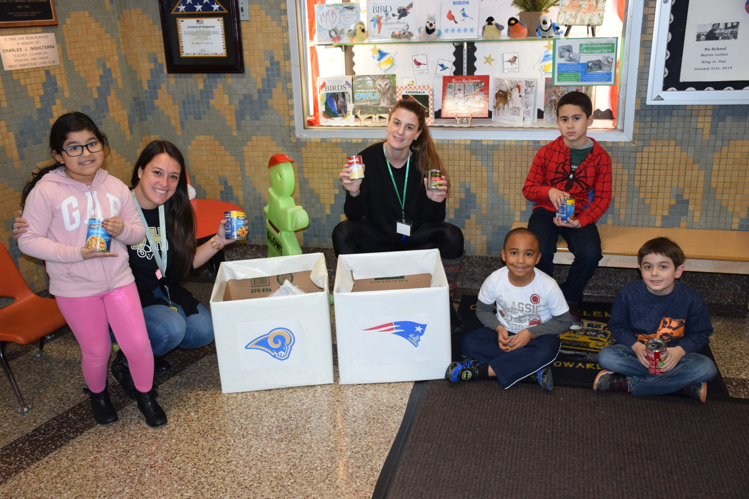 Students at Cornwell Avenue showed support for their favorite team in the Super Bowl by donating soup cans to make an impact in the community.