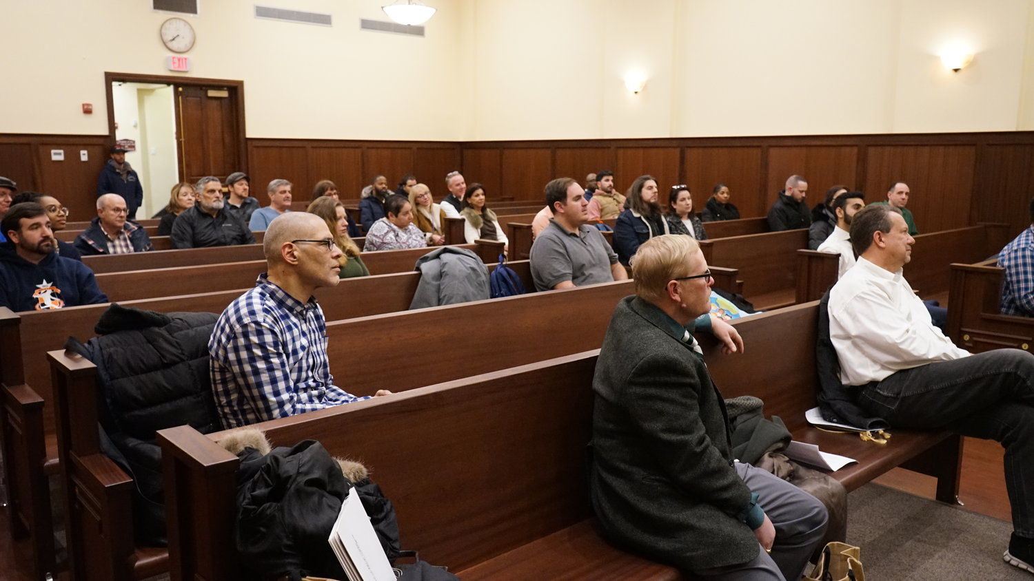 Members of Valley Stream's Downtown Revitalization Task Force gathered at the village courthouse to hear about the methods three village mayors in Nassau County have employed to revitalize their downtowns.