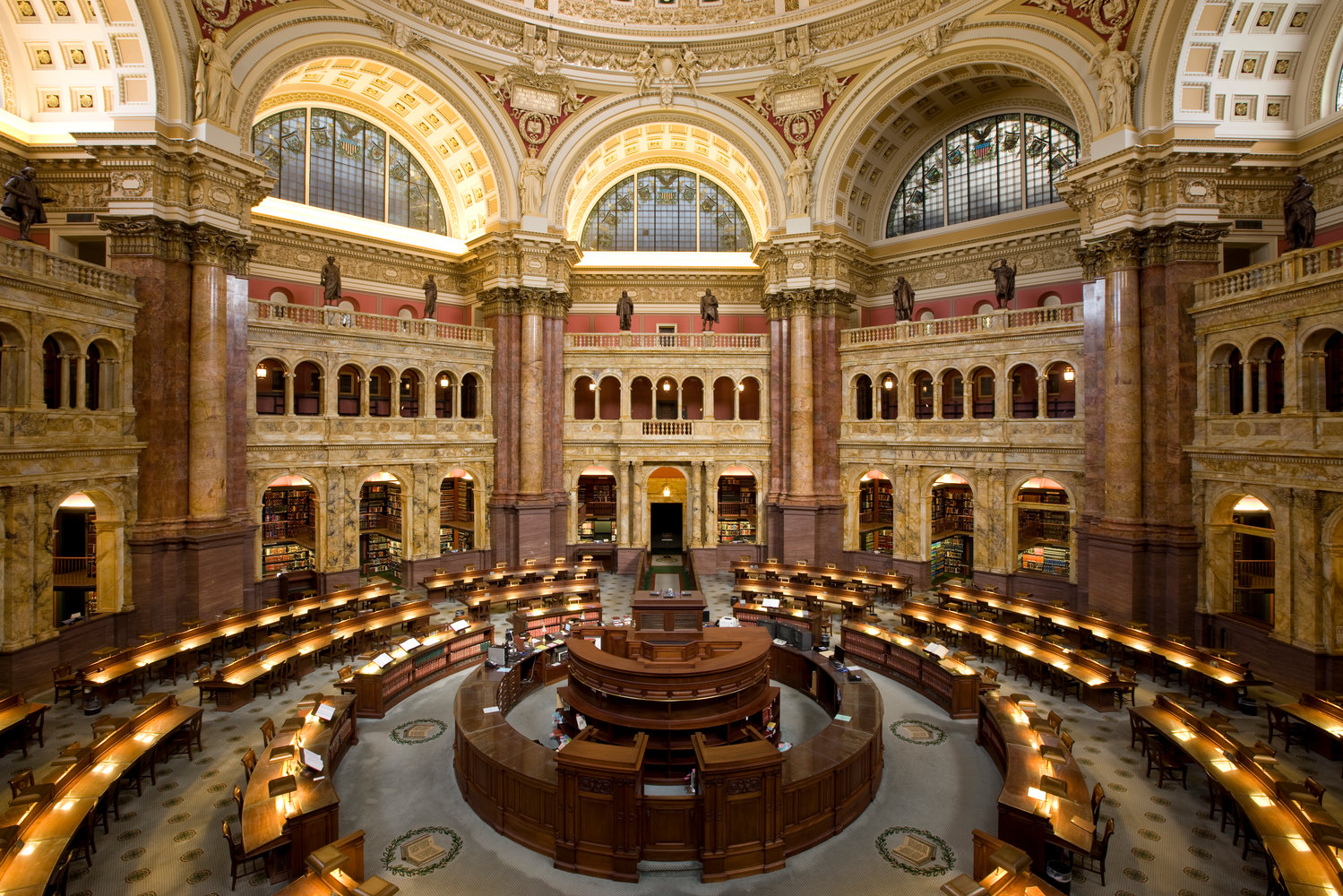 The Library of Congress' main reading room.