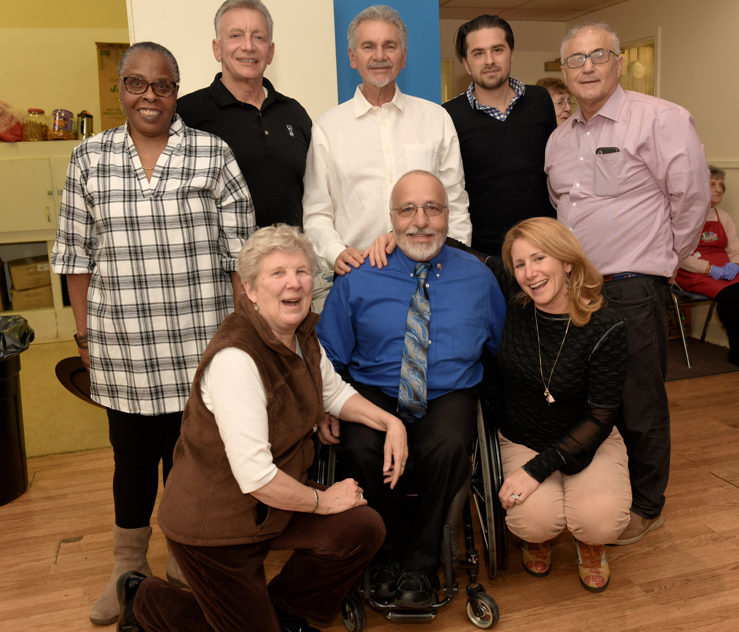 A committee made up of several of Glen Cove's most influential people decided that Zangari, bottom center, a former city councilman, was more than deserving of a fundraiser for his cancer treatment.