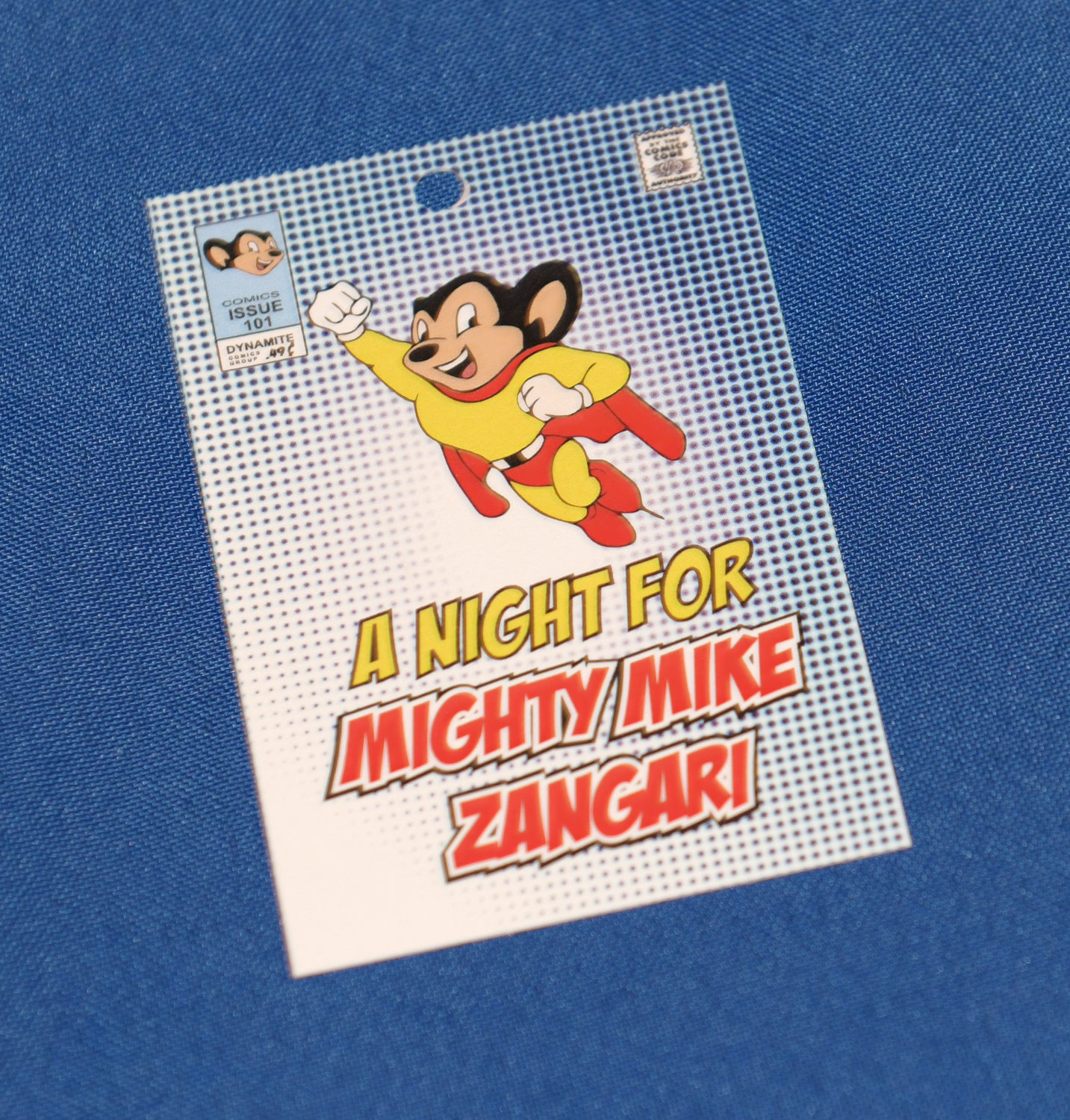 Mike Zangari is a big Mighty Mouse fan.