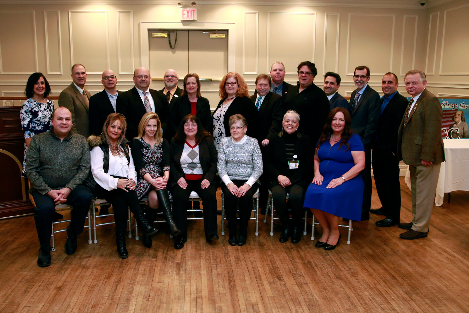 Officers and members of the organization's board of directors gathered at Plattdeutsche Park on Jan. 30.