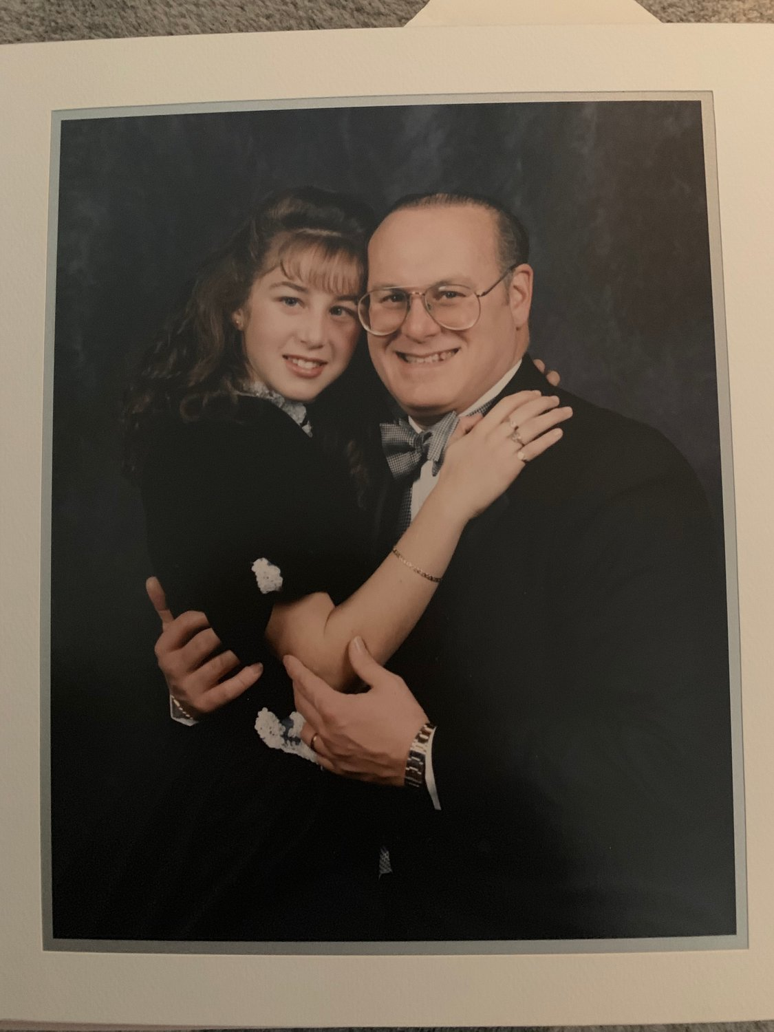 Author Jill Santopolo at age 12 with her father, John Santopolo, whose death in 2015 was a major influence on her latest novel, 'More Than Words.'