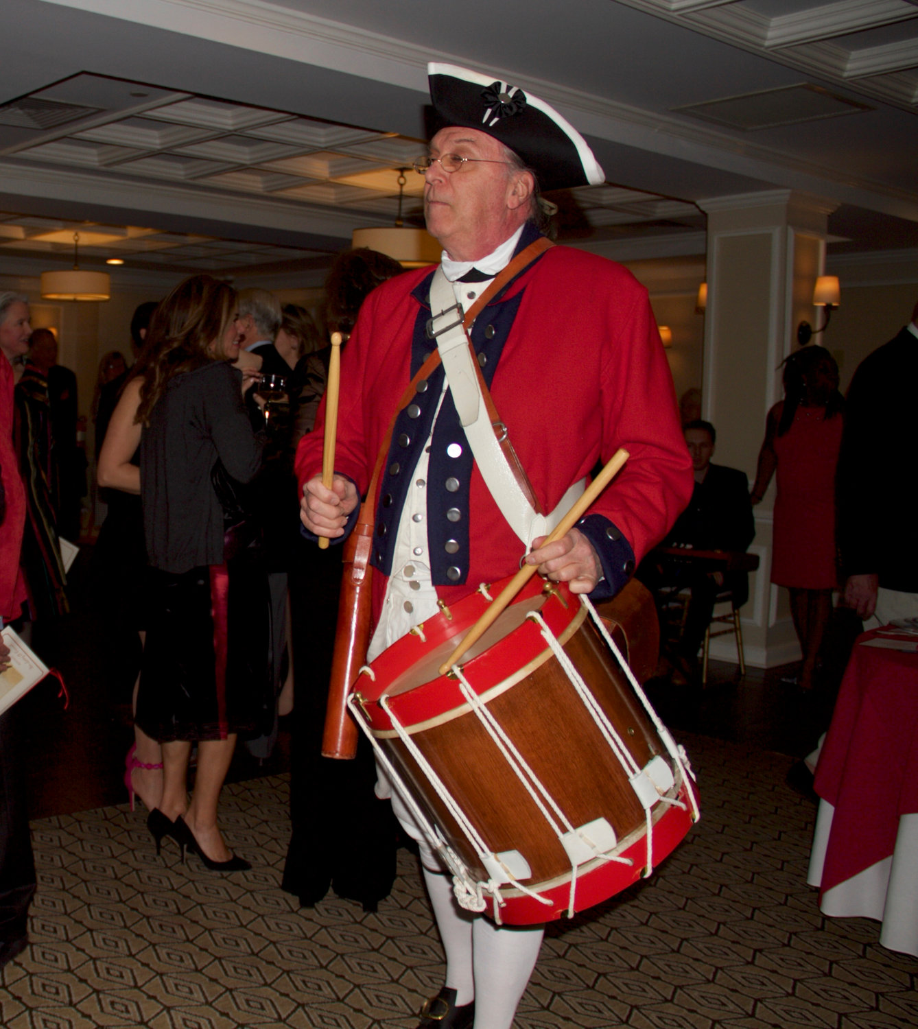 Raynham Hall's Michael Goudket announced, with percussive assistance, that dinner was served.