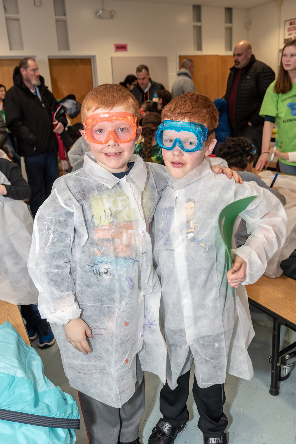 Twins Sean and Colin Werner were ready to learn all about science at Theodore Roosevelt Elementary School's Science Fun Night.