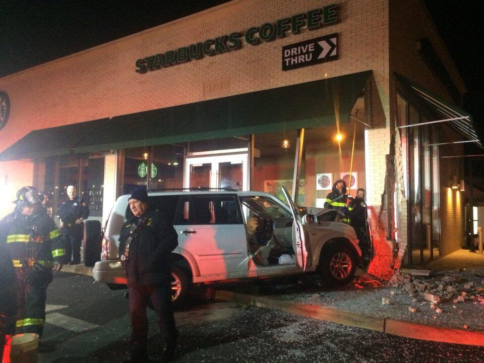 A Brentwood man died after his SUV crashed into Starbucks at 2755 Long Beach Road in Oceanside on Feb. 8.