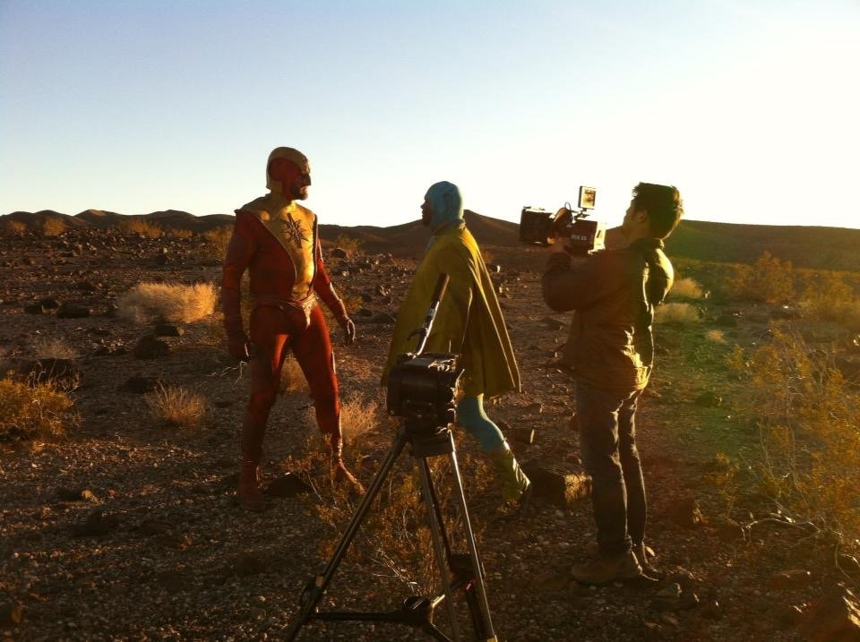 Marcinowski's battle as Solar Flare against Captain Boulevard (played by Jason Hughes) was captured by cinematographer Matt Louie.
