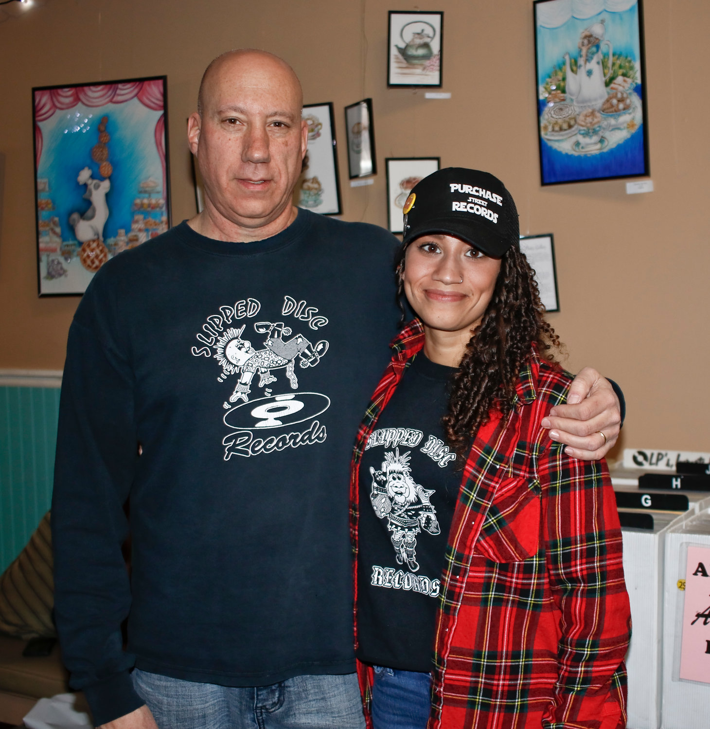 Schutzman with his daughter Amanda. They hope to bring the pop-up shop back to Valley Stream again.