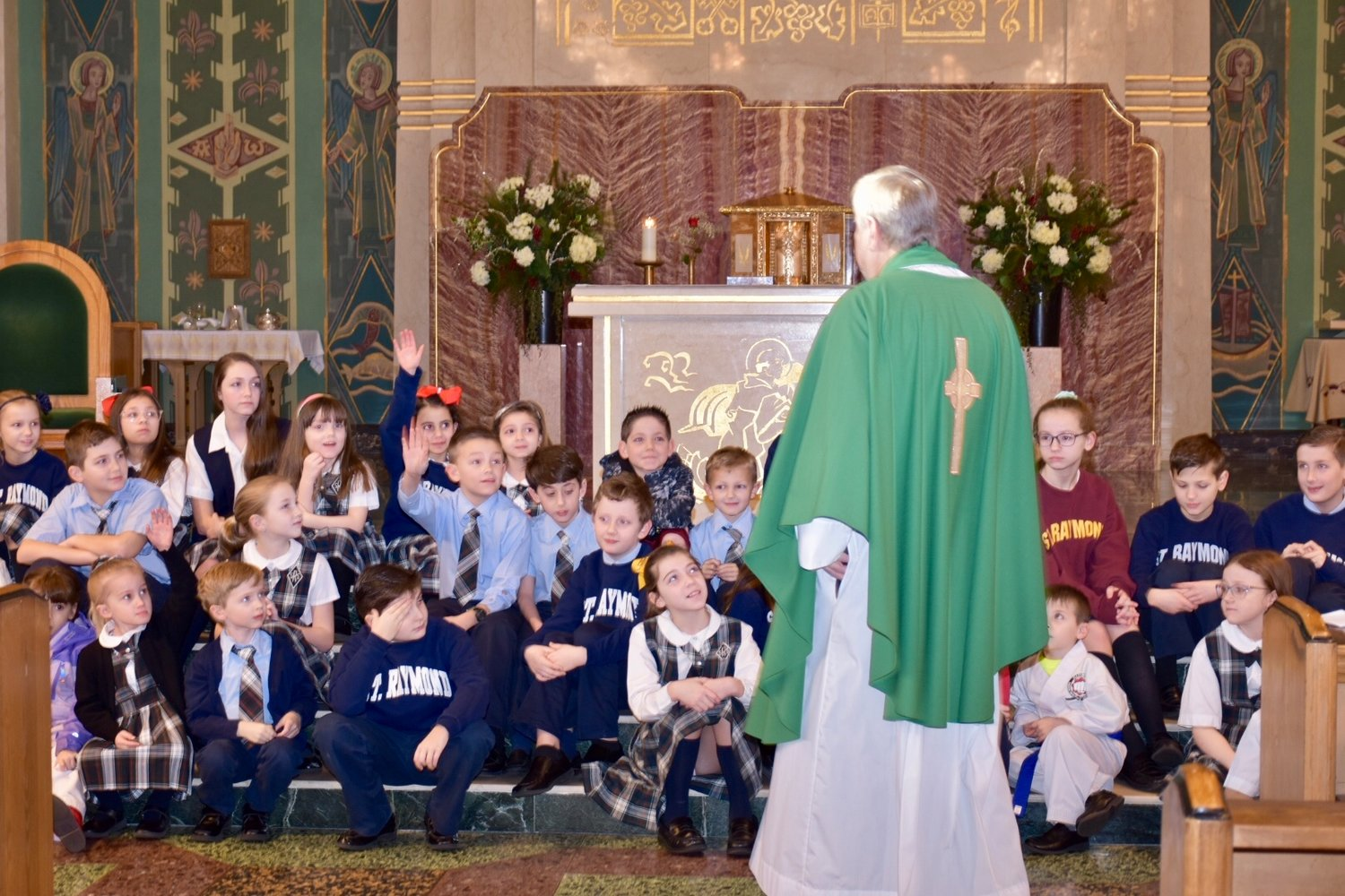 Students at St. Raymond's Parochial School in East Rockaway celebrated Catholic Schools Week from Jan. 27 through Feb. 2 with many activities.