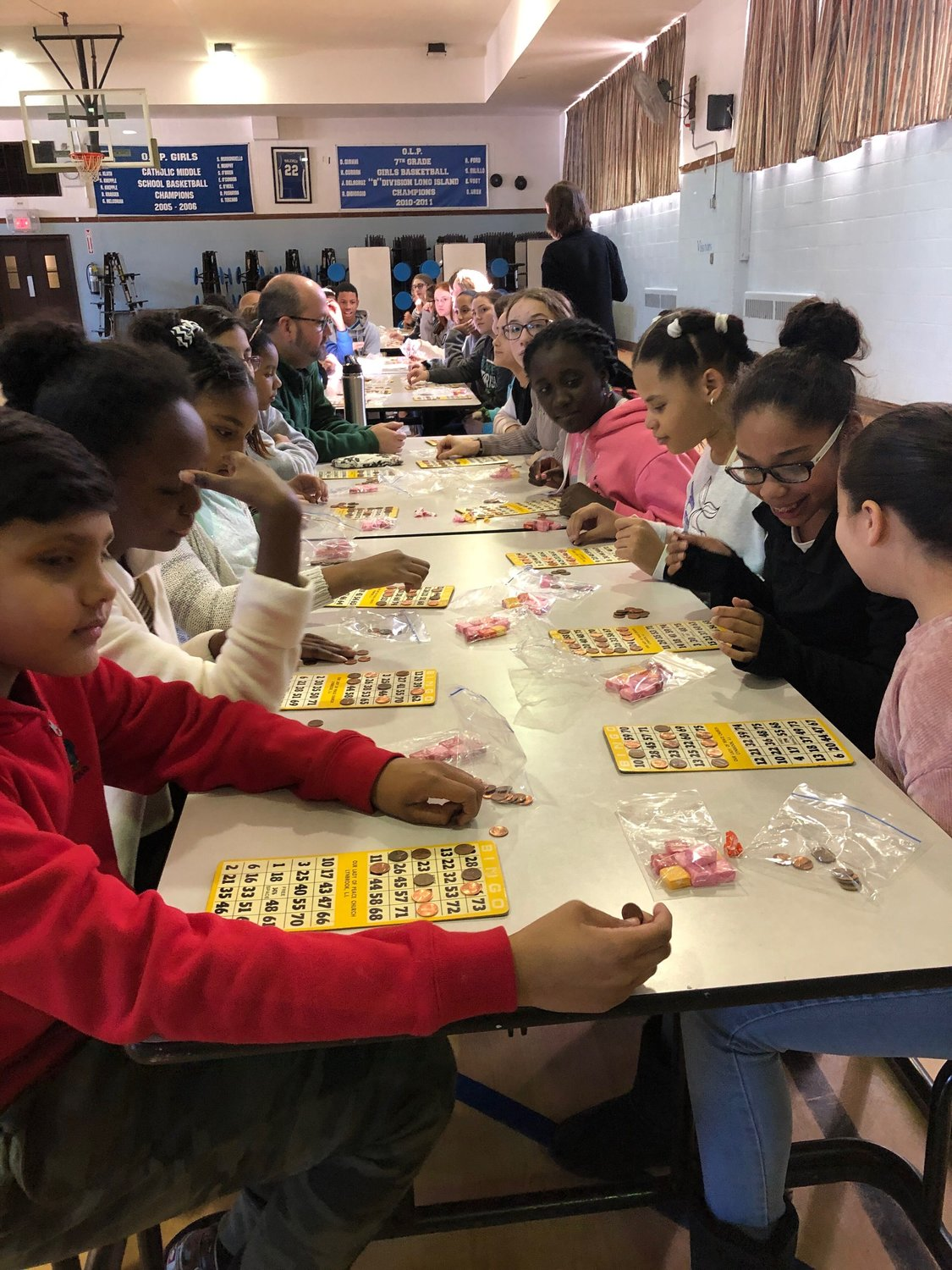 At Our Lady of Peace, students enjoyed many lessons and games throughout the week, including bingo.