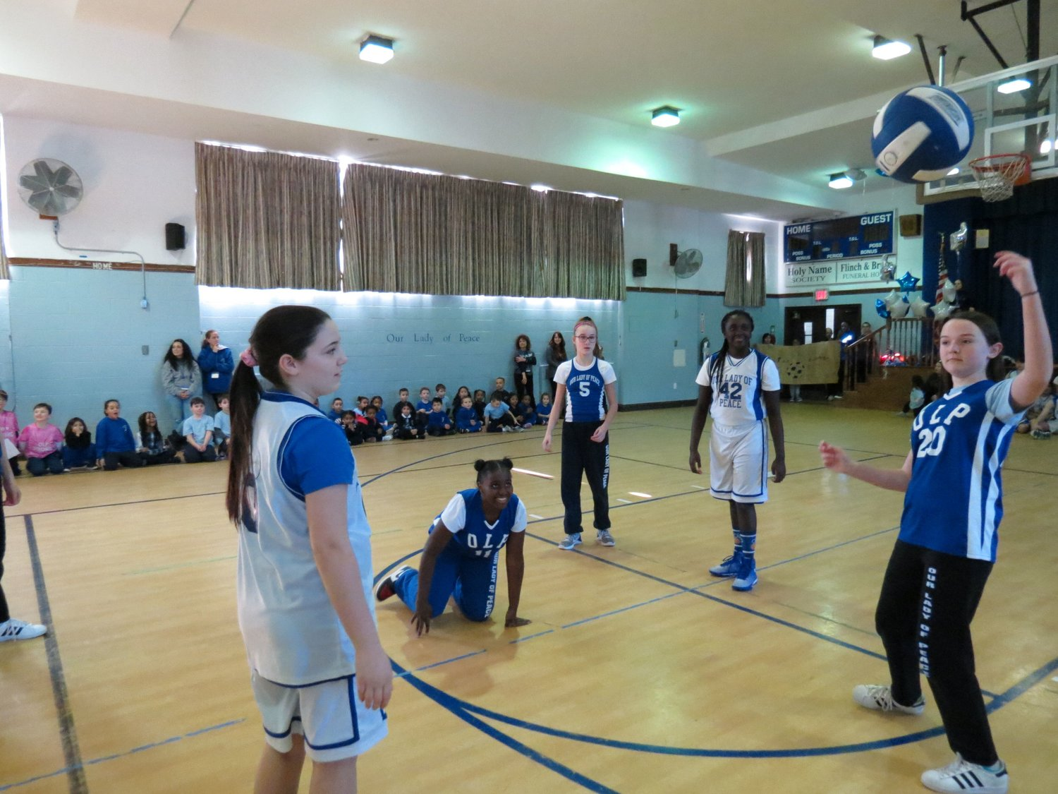 Students also played sports and showed their school pride during Spirit Day.